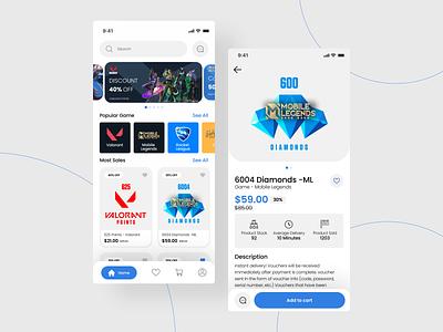 TPshop - Item GameShop UI design mobile design user interface top up game ecommerce app ios app shop app ui ux gaming shop shopping app mobile app app design online shop online store