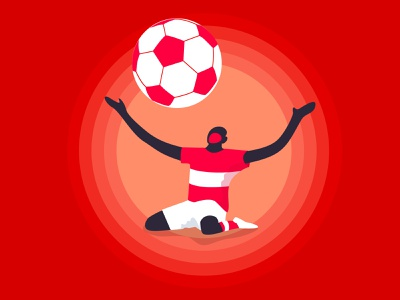 footballer vector illustration success victory footballer