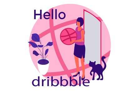 Hello, Dribbble illustration