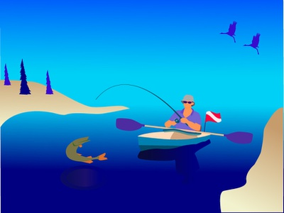 Fishing vector illustration
