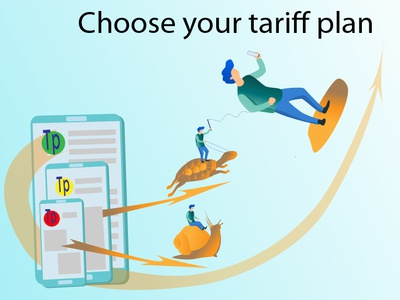 Choose your tariff plan vector illustration speed the internet tariff plan