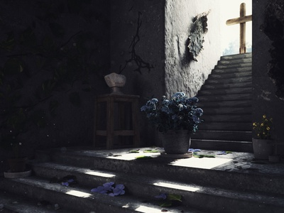 🌫FORGOTTEN photoreal lighting maya arnold composite render cinema 4d 3d