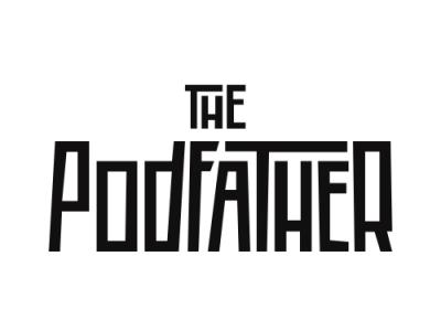 The Podfather - Ricky Gervais scorcese goodfellas film trilogy podfather retro mafia godfather pilkington karl gervais ricky icon typography branding ux logo illustration vector illustrator