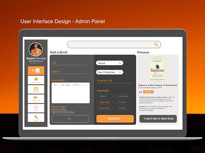 UI design for an admin panel ui panel admin