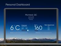 Personal Dashboard UI