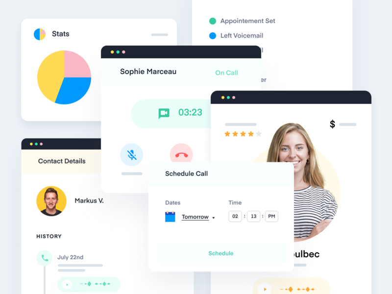 Abstract UI for Features Pages landing page identity icons homepage illustration website branding design interface ui