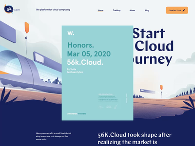 56k Site of the Day on Awwwards typography logo illustration website branding motion landing page homepage