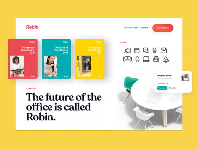 Design System for the new Robin website saas