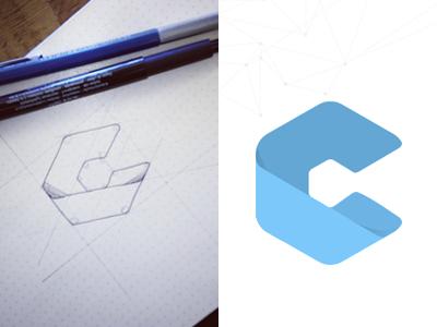 Flat logo design 2013