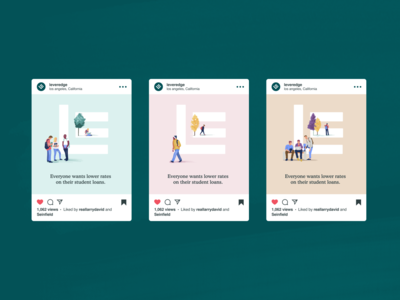 Visual Identity / Instagram Ads for Banking Service