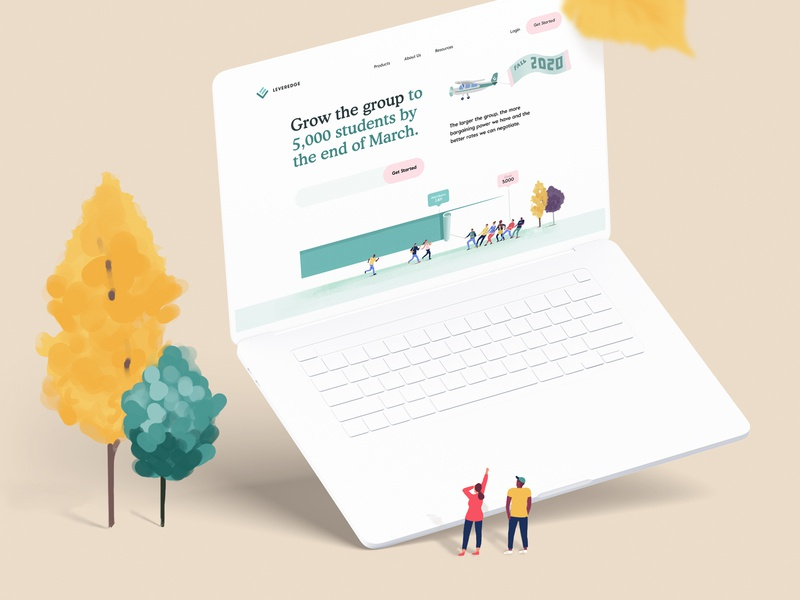 Campaign Page Design for Banking/FinTech Website