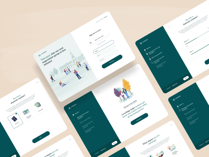 On Boarding Experience for a Banking/FinTech New Website website web design finance banking fintech identity ui branding icons form on boarding illustration login sign up