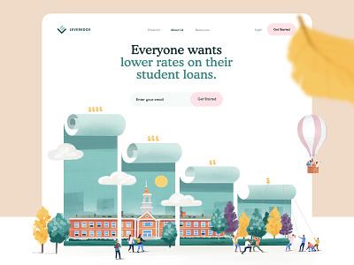 Homepage for FinTech / Banking Website landing page banking fintech finance idendity branding homepage web design