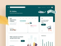 Dashboard Design for FinTech / Banking Website analytics stats graph ui timeline web app app design dashboard