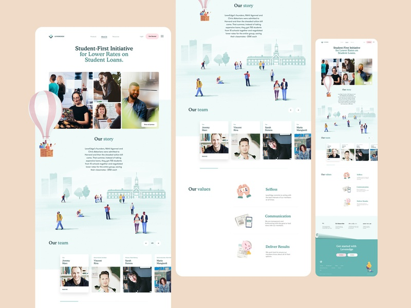 About us / Company Page Design