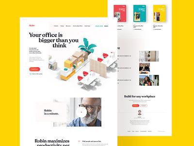 Homepage, Website for Robin | 3D Illustration design homepage design branding identity hero website 3d landing homepage