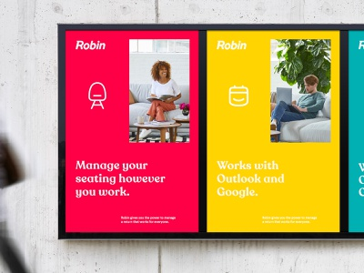 Branding — Posters Series for Robin Offices posters and more. vector billboards typography icons branding posters