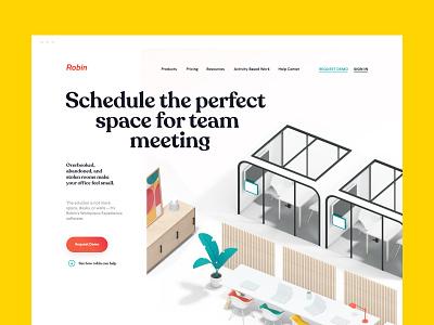 Landing page for Robin's new website / webdesign