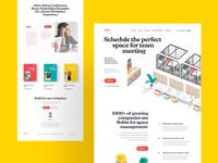 Office, Workspace Landing Page Design