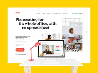 Office, Workspace Feature's Page Design / New Robin's website wework dashboard landing page workspace office