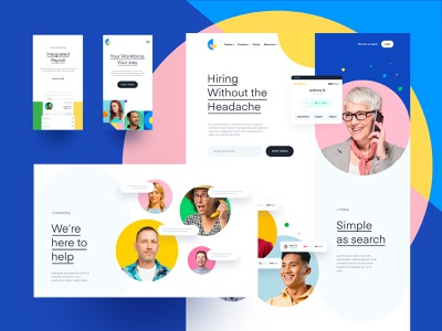 New Identity for Overpass Feature's page | Saas b2b features website branding idenity salesforce sales saas marketplace hero blue homepage landing page