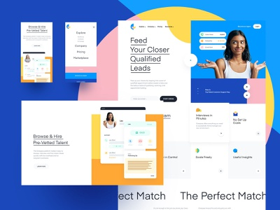 Homepage Design for new SaaS Webdesign freelancers marketplace saas idendity branding wendesign website