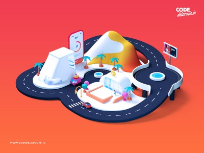 New work — Brand 3D Illustration for upcoming website gradients brand website illustration 3d