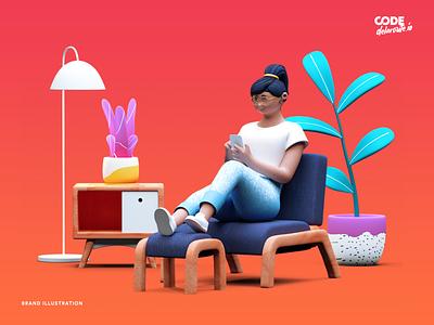 Brand Illustration | SaaS Website