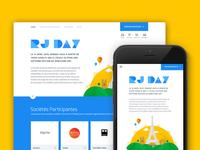 Rjday Landing page design