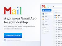 Google Mail Website UI App / Homepage / Header (Part1)