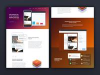 Codeless mobile analytics landing page design