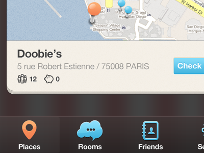 New iPhone app design | Map UI,UX interface ui interface apps design iphone brown blue orange map