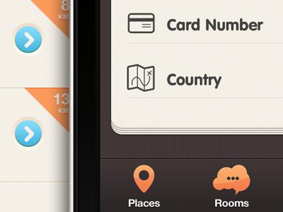 New iPhone app design | Edit Profile UI,UX interface  ui interface apps design iphone brown blue orange