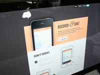 IOS ChatCheckin Website, homepage UI Design / iPhone App