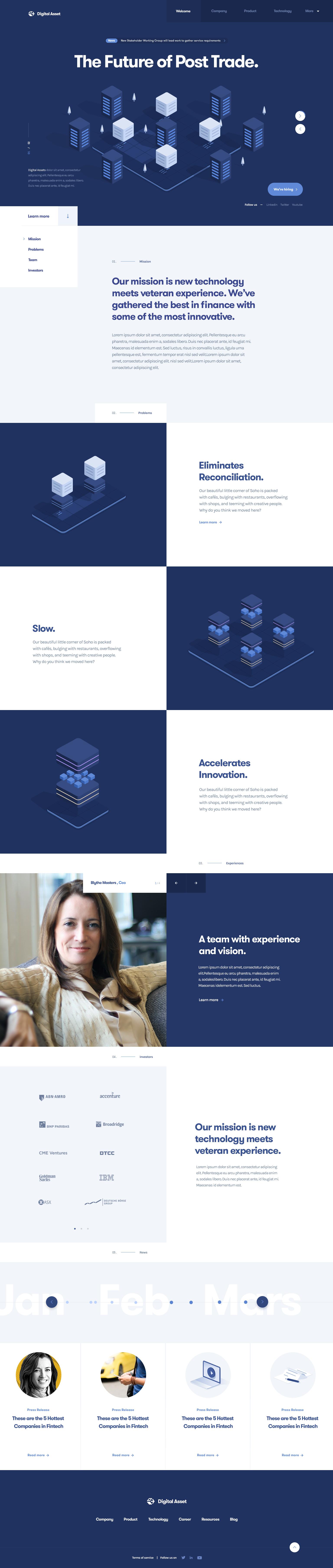 Digital asset homepage by julien renvoye
