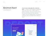 Benchmark report design by julien renvoye
