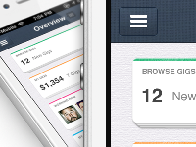 IOS, New iPhone app design | Dashboard UI,UX interface  iphone ui app nav bar texture button color scheme dashboard ios