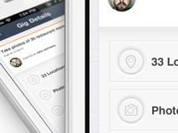 IOS, iPhone app design   Dashboard UI,UX interface