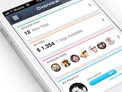 IOS7 iPhone app design | Dashboard UI,UX interface  dashboard color scheme button texture nav bar app ui iphone ios glow statistics profile data header menu mobile graph interface stats