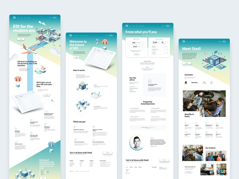 SaaS, EDI landing pages