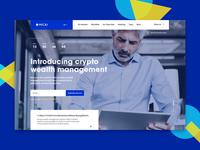 ICO, Bitcoin, crypto landing page | Fintech