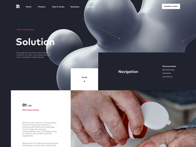 AI Features Page for a SaaS | Website Homepage solution features parallax homepage saas motion artificial intelligence ai ui