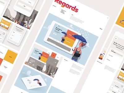 Regards Case Study saas website saas design saas landing page health care healthcare