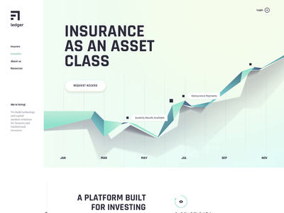 Landing pages design for a FinTech startup | AI, Insurance ai design motion homepage insurance app landing page 3d fintech insurance