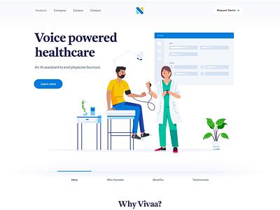 Website for a Healthcare/Medical Startup | AI Tech website saas motion ai healthcare
