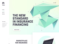 Landing pages design for a FinTech startup | AI, Insurance