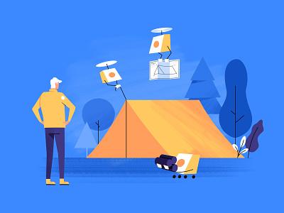 Illustration for a Saas Website | Messaging app message blue illustration website saas messaging