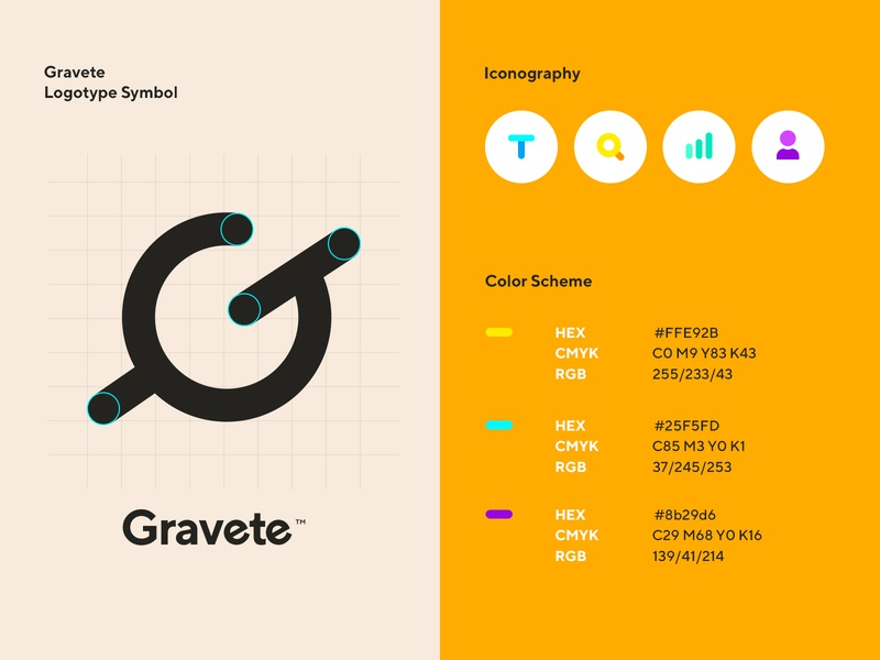 Design system for a technology startup color scheme icons identity logo