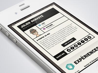 Resume IOS Version  interface ui iphone ios resume