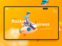 Homepage design for AI startup